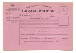 MANDAT-POSTE INTERNATIONAL R - Ganzsachen