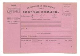 MANDAT-POSTE INTERNATIONAL R - Stamped Stationery