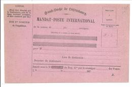 MANDAT-POSTE INTERNATIONAL R. - Ganzsachen