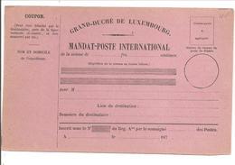 MANDAT-POSTE INTERNATIONAL187 . - Entiers Postaux