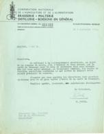 Corporation Agriculture Et Alimentation. Brasserie, Malterie, Distillerie, Boissons. 1942. - Alimentare
