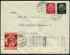 DT. REICH, MiF Nr. 512,519+744, DEUTSCHE UND ITALIENISCHE ZENSUR, INSBRUCK-MERAN - Allemagne