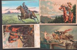 Lot Karten Mit Pferden, Horse, Künstlerkarte Miltitz Roitzschen, Die Jagdr Nach Glück, Historischer Festzug Erfurt - Pferde