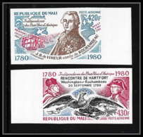 85442 Poste Aérienne Pa N°391 / 392 Bord De Feuille Rochambeau Mali Independance Usa Aigle Eagle Non Dentelé ** MNH (Imp - Us Independence