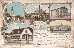 "68. SIERENZ. CPA. CARTE MULTI VUES "" GRUSS AUS SIERENZ "". ANNÉE 1904 + TEXTE - Frankrijk"