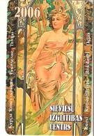 "Pocket Calendar: Latvia, 2006, Women In A Garden, Development Sorority ""SIC"" Advertising - Small : 2001-..."