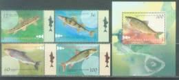 MK 2007-421-4 FISH, MACEDONIA, 4v + S/S, MNH - Pesci