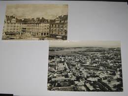 225 - Lorient 2 Cartes Place Alsace Lorraine Et La Gare Routiière (arrachement Du Timbre ) - Lorient