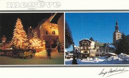 Haute Savoie ,megeve, La Place Et Les Traineaux - Megève