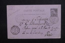 MADAGASCAR - Entier Postal Alphée Dubois De Tananarive Pour Paris En 1891 ( Correspondance D'un Naturaliste ) - L 51629 - Madagascar (1889-1960)