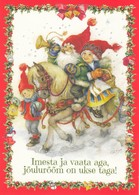 Elf Riding On Horse With Children - Gracia Arias / Juan Vernet - AB Pictura - Navidad