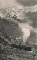 Haute Savoie , Le Tramway Du Mont Blanc Et L'aiguille Du Bionnassay 4052 M - Francia