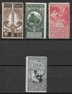 Italy - Italia -  1911  Mi. Nr. 100-103 - Ungebraucht