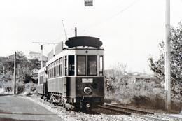 Tramway De Perpignan (66) Motrice N°32 Sur La Route De Canet Plage, Vers 1950 - Tramways