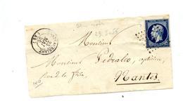 Fragment De Devant De Lettre Cachet Losange + Chateaubriand Sur Napoleon - 1849-1876: Classic Period