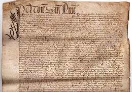 Parchemin Manuscrit à Déchiffrer En Latin ? XVème Siècle 1440 ? Acte 15ème Montagne D'Aujon ? Savoie, Noble Jean Deloche - Manoscritti