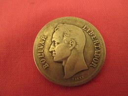 Venezuela  -  Bolivar  Argent 1929 Tres Bel Etat - Venezuela