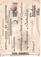 2 Lettres De Saigon Pour La France 1940 Distilleries De L Indochine Par Bateau Via Madagascar 1 Avec Censure Britannique - Lettres & Documents