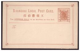 Entier SHANGHAI Local Card Neuf - China