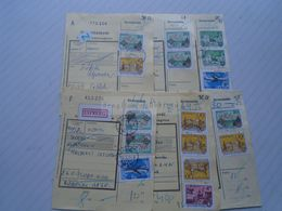 D170569 Parcel Card -  Lot Of 6 Pcs - Hungary 1980's - Covers & Documents