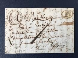 Lettre 1842 Taxe Poligny Jura Marque Décime Rural - 1801-1848: Vorläufer XIX