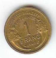 FRANCE -  1 FRANC 1940  TYPE MORLON - H. 1 Franc