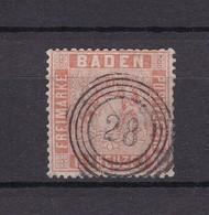 Baden - 1860/61 - Michel Nr. 11 - Gest. - 100 Euro - Bade