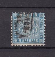 Baden - 1862/63 - Michel Nr. 14 - Gest. - 100 Euro - Baden