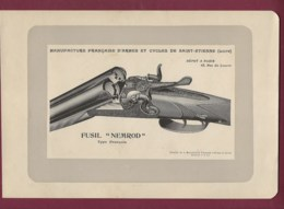 300120 - CHASSE PHOTOGRAVURE 1907 Manufacture Armes Et Cycles SAINT ETIENNE Loire FUSIL NEMROD - Sports