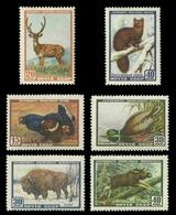 Russia / Sowjetunion 1957 - Mi-Nr. 1924-1929 ** - MNH - Wildtiere / Wild Animals - Ungebraucht