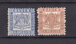 Baden - 1862/1866 - Michel Nr. 19/20 - Ungebr. - Baden