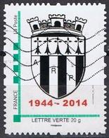 A R P -( Blason)  1944 - 2014  - Lettre Verte - Frankreich