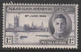 Falkland Islands Dependencies 1946 End Of The World War II 1p Violet SW 10  ** MNH - Falkland