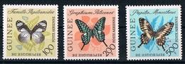 Papillons Butterflies  Mi 197-200 Neuf MNH ** Guinee Guinea 1963 - Butterflies