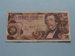 20 - Zwanzig Schilling ( B 825852 N ) Wien 1967 ( For Grade, Please See Photo ) ! - Austria