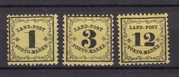 Baden - Portomarken - 1862 - Michel Nr. 1/3 - Ungebr. - 54 Euro - Baden