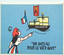 Themes Div-ref DD1044-politique -satirique Contre La Guerre Du Vietnam -illustrateurs-illustrateur Jean Effel -un Bateau - Effel