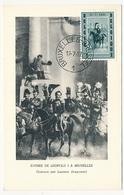 BELGIQUE => Carte Maximum - Entrée De Léopold 1 à Bruxelles - 1957 - Maximum Cards