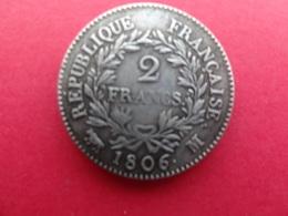 France  2 Francs Napoleon  1806 M Km 252 Copie - France