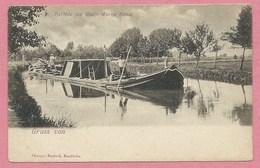 Partie Am RHEIN MARNE Kanal - Péniche - Batellerie - Bateau - Canal De La MARNE Au RHIN Près De STRASBOURG - BISCHHEIM - Non Classés