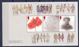 Jersey - Great Britain The Great War WW I Prestige Booklet 2014 Pane 1  MNH ** Uniforms Poppy - Jersey