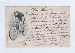 CP Cliché BARENNE : Cycliste Eugène PRÉVÔT Vainqueur Du Premier PARIS-TOURS De 1896.Cachets 1900. Vélo, Cyclisme. - Cyclisme
