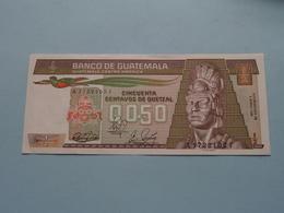 CINQUENTA Centavos De Quetzal > Banco De GUATEMALA ( For Grade, Please See Photo ) UNC ! - Guatemala