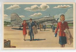 Cpa Pub Publicité Swedish Airlines Aviation Airport Stokholm Flygcity - Aerodromi