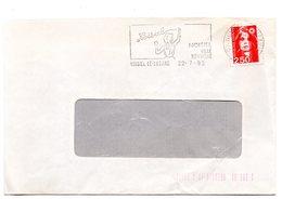 SEINE Et MARNE - Dépt N° 77 = NOISIEL 1992 =  FLAMME SECAP Illustrée PUB CHOCOLAT MENIER 'ville Nouvelle' - Marcophilie (Lettres)