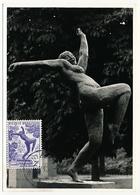BELGIQUE => Carte Maximum - Biennale De La Sculpture - ANVERS - 1950 - 1951-1960