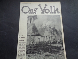 """Origineel Knipsel ( 1793 ) Uit Tijdschrift """" Ons Volk """"  1935 :    Brand    Temsche  Temse  Tamise - Vieux Papiers"""