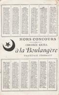 - Très Beau Calendrier  1896, 155mm X 85mm, A. Cardon-Duverger à Ste-Olle-Lez-Cambrai NORD - Calendari