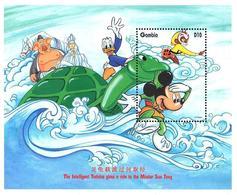 MWD-BK2-124-4MINT PF/MNH ¤ GAMBIA 1998 BLOCK ¤ THE WORLD OF WALT DISNEY -- 70th ANNIVERSARY OF MICKEY MOUSE - Disney