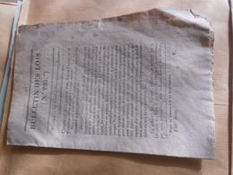 Vieux  Bulletin  Des Loi / Monnaie   Trésorerie  Monnaie - Decreti & Leggi